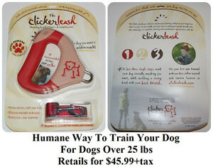 The Clicker Leash ( For Dogs Over 25lb ) * Delivery Available *