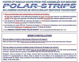 ★PORTES & RIDEAUX COUPE-FROID EN LANIÈRES DE VINYLE TRANSPARENT★ West Island Greater Montréal image 8
