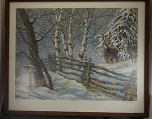 FRAMED VIC GIBBONS LIMITED EDITION PRINT WINTER'S WONDER
