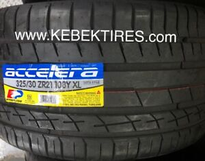 4 TIRES BMW X5M X6 325/30R21 285/35R21 ACCELERA HIGH PERFORMANCE
