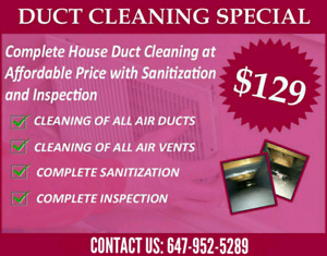 SUPER SUMMER OFFER FOR DUCT CLAENING WITH UNLIMITED VENTS $130