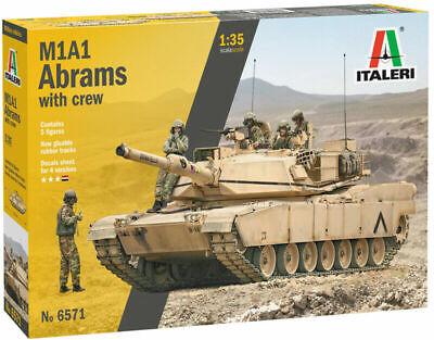 Italeri 6571 Panzer M1A1 Abrams mit Besatzung Plastik Modellbausatz 1:35 NEU