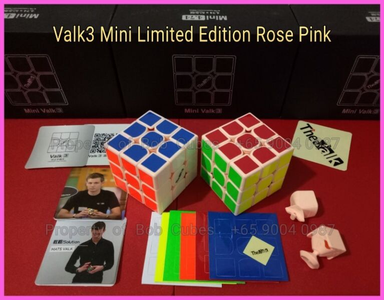= Valk3 Mini Limited Edition Rose Pink for sale  - Brand New Limited Edition Speedcube
