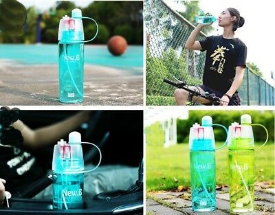 400/600ml Outdoor Sports Climbing Cycling Atomizing Mist Spray Water Bottle New