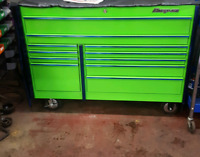 Snap on toolbox with tools