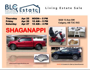 Estate Sale Calgary 3 Days Only! 3020 13 Ave SW