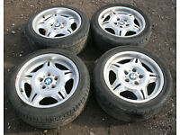 "Genuine BMW E36 Staggered M3 Motorsport Alloy Wheels 17"" 7.5/8.5j 328i Sport 325i 325tds 318is Evo"