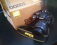 Nikon D3200 with 18-55 mm lens $420 OBO