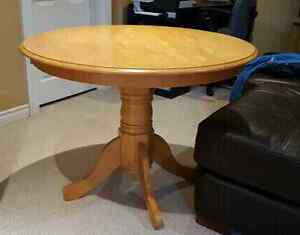 Round pine table solid wood