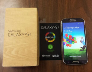 LIKE NEW 64B BLUE Samsung Galaxy S4 +unlocked +ACCESSORIE