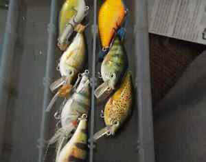 FISHING LURES -jerkbaits and squarebill crank baits-MUST GO