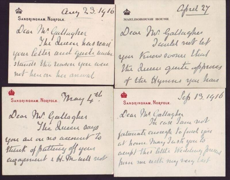 QUEEN ALEXANDRA SANDRINGHAM 1916