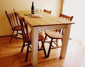 Rustic French Farmhouse Table @ www.handbuiltfurniture.ca