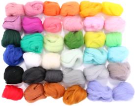 Rosenice 36 Colours Wool Roving Wool Knitting Yarn Fibre Wool
