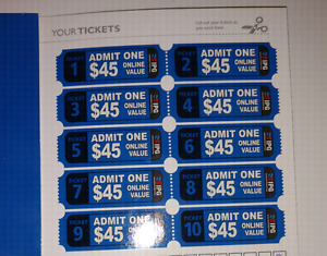 Paintball 10 tickets for price of 2