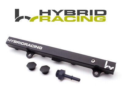 HYBRID RACING BLACK FUEL RAIL FOR DC5/EP3 EFI FITTING RSX 02-06/CIVIC SI 02-05  Racing Fuel Rail