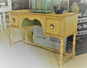 ANTIQUE DRESSING TABLE, REFINISHED, FRENCH COUNTRY STYLE