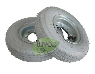 2 Pneumatic Wheels Tennant Scrubbers 5400 5300 A5 Repl. 1059452 630215.