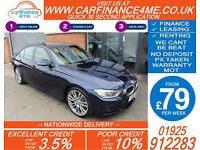 2013 BMW 330D 3.0 TD M-SPORT GOOD / BAD CREDIT CAR FINANCE FROM 79 P/WK