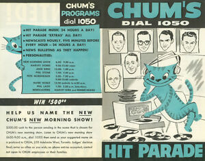 Buying CHUM HIT PARADE CHARTS from radio station 1050 CHUM Kitchener / Waterloo Kitchener Area image 3