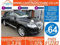 2010 VW TOUAREG 3.0 TDI V6 ALTITUDE GOOD / BAD CREDIT CAR FINANCE FROM 64 P/WK