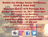 Before the Bridge Christmas Craft Sale and Santa Pet photos