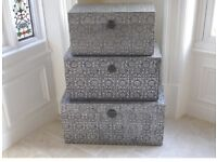 Silver Embossed chests x3