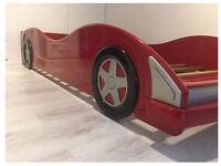 Red racing car bed frame