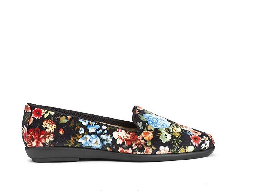 Aerosoles Women's Betunia Slip-on Loafer, Black Floral 1
