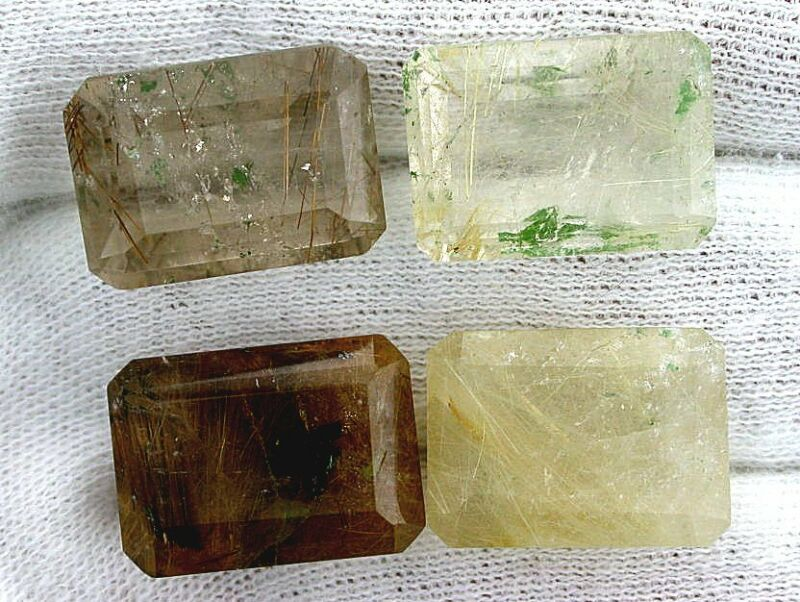 ONE 18x13 18mm x 13mm Emerald Golden Rutilated Quartz Gemstone Gem Stone EBS7171