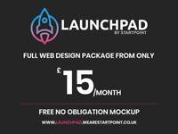 Web Design Package | £15/pm | FREE Mockup | Bristol | Freelance Web Designer