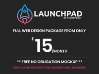 Web Design Package | £15/pm | FREE Mockup | Glasgow | Freelance Web Designer
