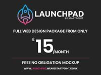 Web Design Package | £15/pm | FREE Mockup | Manchester | Freelance Web Designer