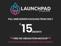 Web Design Package | £15/pm | FREE Mockup | Bristol | Freelance Web Designer