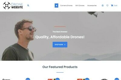 Drone Dropshipping Store - Full Setup Domain And 1st Month Hosting Included