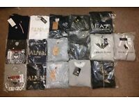 Wholesale/Joblot men's T-shirts, Jumpers, Tracksuits - Balmain, Kenzo, Armani, True Religion