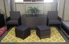 OUTDOOR rattan dining 5 piece set. FOLDS & PACKS away! Hendon Charles Sturt Area Preview