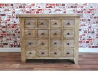 Apothecary Chest of Drawers Cabinet Rustic Haberdashery Antique Style