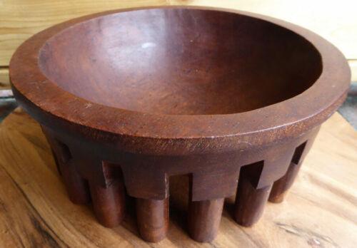 Hand Carved Kava Bowl 19 LEGS South Pacifac Island Tribal Art Vintage