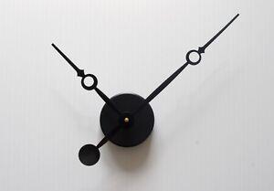 horloge pendule minimaliste originale aiguilles longues avec trou sans cadran ebay. Black Bedroom Furniture Sets. Home Design Ideas