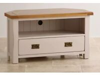 Collection of solid oak furniture - tv stand, two coffee tables, desk and tall dresser