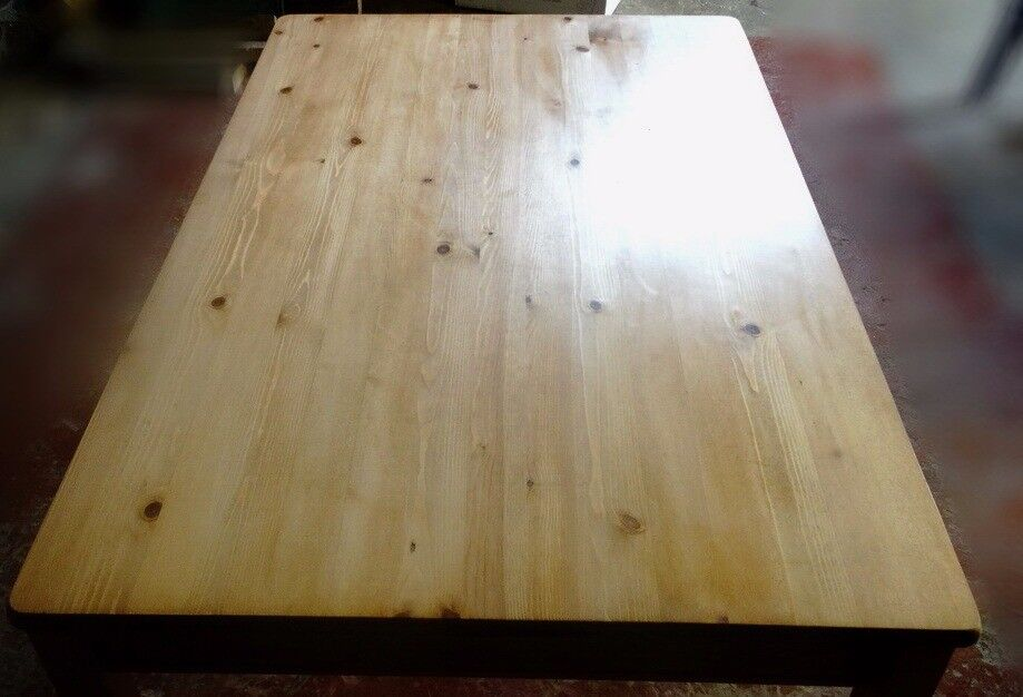 Pine table.
