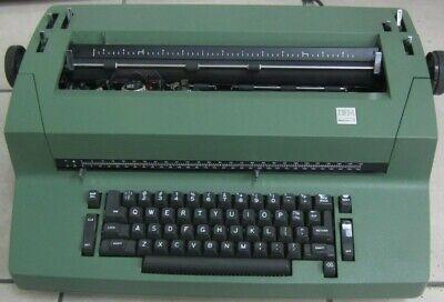 Vintage Ibm Selectric Ii Typewriter Olive Green For Repair Or Part