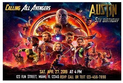 Avengers Birthday Party Invitation (Printable) (Avengers Printables)