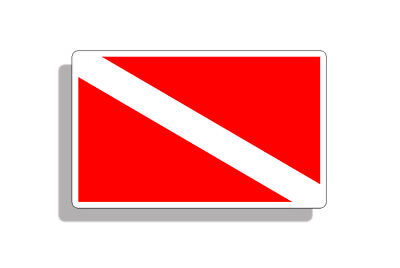 Scuba Diver Down Flag Sticker Dive Diving Car Truck Laptop Window Bumper Decal