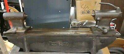 Vtg Taft Peirce Machinist Metalworking Lathe Tool Bench Center 30 Bed .