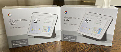 "Google 7"" Touchscreen Nest Hub Charcoal BRAND NEW SEALED + MANUFACTURER WARRANTY"
