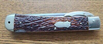Very Rare 1950 Big Stag Folding Knife By Jim Olsen Howard City Michigan