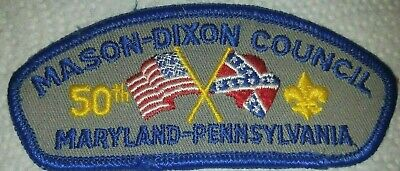 Mason Dixon Council shoulder patch CSP t-2 50th ann'y Hagerstown, Maryland BSA for sale  Shipping to Ireland