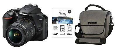 Nikon D3500 Spiegelreflexkamera inkl 18-55 mm + Zubehörpaket: 32GB SDHC + Tasche